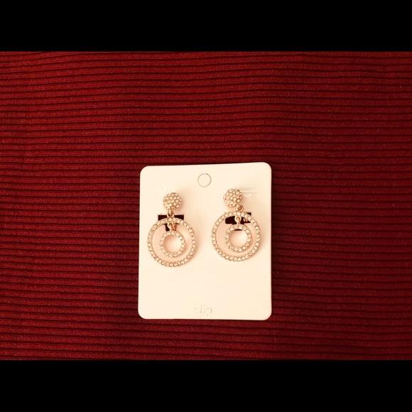 Macy S Jewelry Lovely Rose Gold Bling Clip Earrings Poshmark